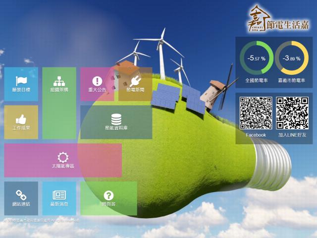 嘉義市智慧節電管理計畫-節電生活嘉HTML5網站設計